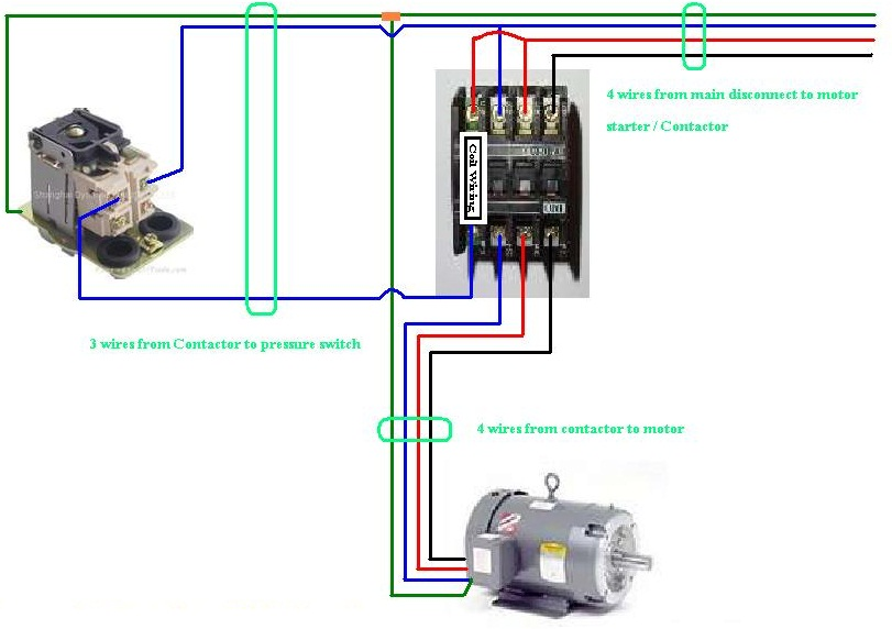 Three Phase Contactor Wiring Diagram on baldor single phase motor wiring