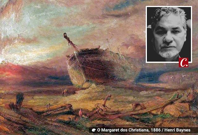 ambiente de leitura carlos romero alberto lacet poema poesia barco canoa navio cais pirografia