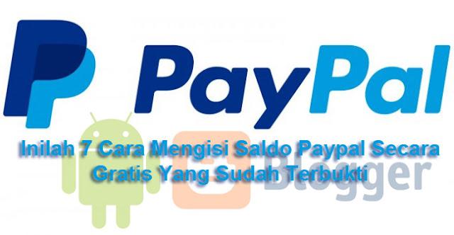 Cara mengisi mendapatkan saldo dollar paypal gratis