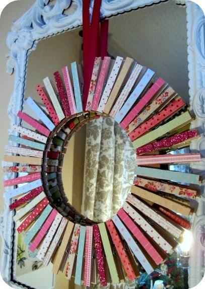 Valentine's Clothespin Wreath