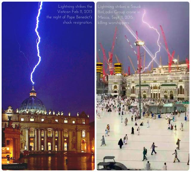 沙特阿拉伯的麥加被閃電