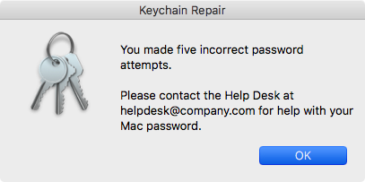 mac keychain repair