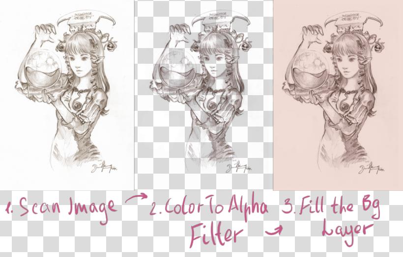 Updated Krita ColorToAlpha filter | Krita