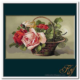 """Krif 1588 """"Cos cu trandafiri"""""""