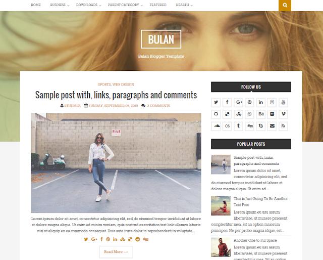 Bulan Blogger Template