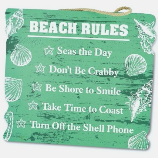 Beach Rules - Turn off Cell Phone