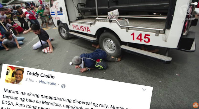 LOOK! Teddy Casiño: The anti-US rally incident is one of the worst I have ever witnessed.