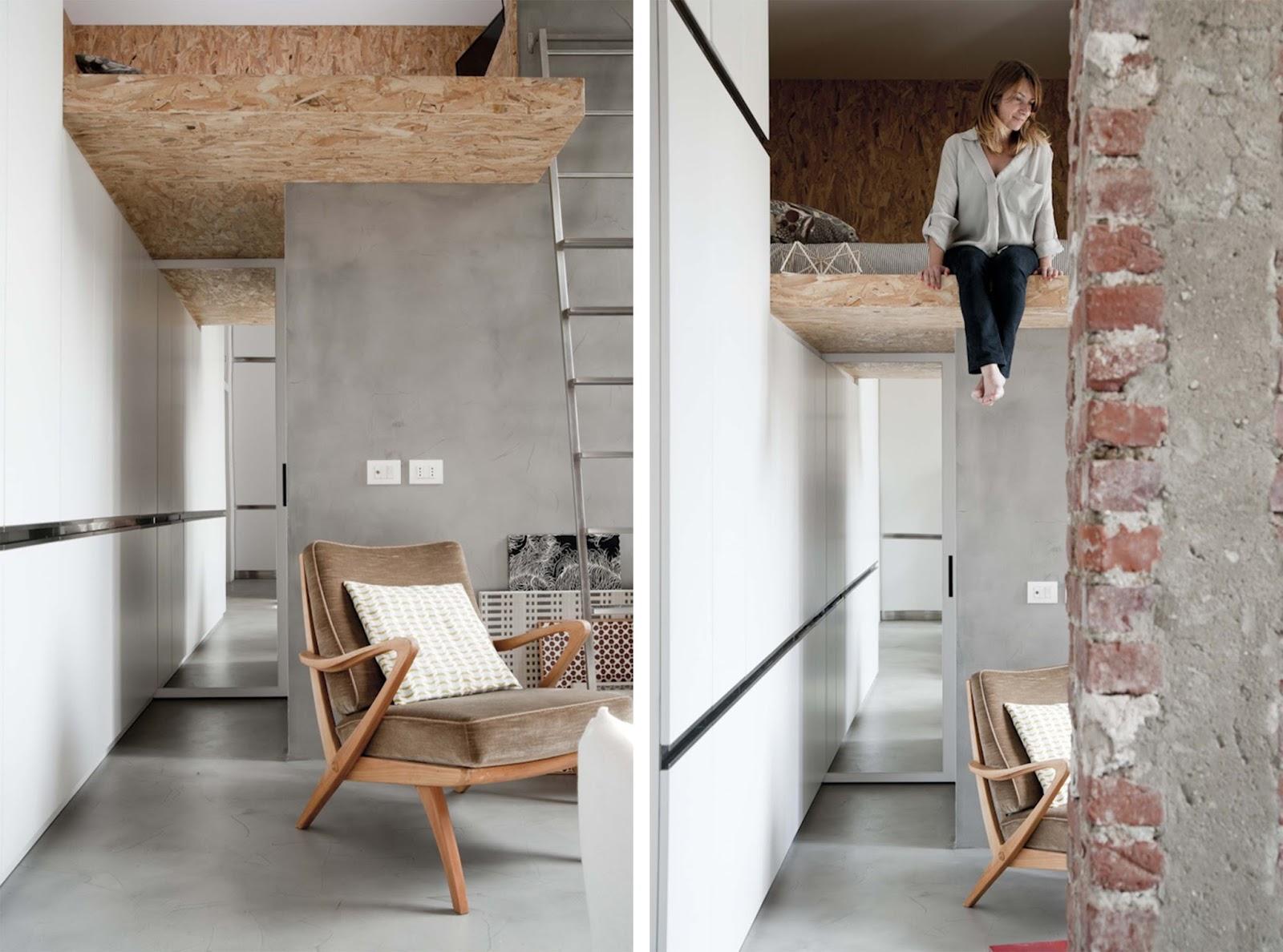 Mini appartamento di 30mq con soppalco  ARC ART blog by Daniele Drigo