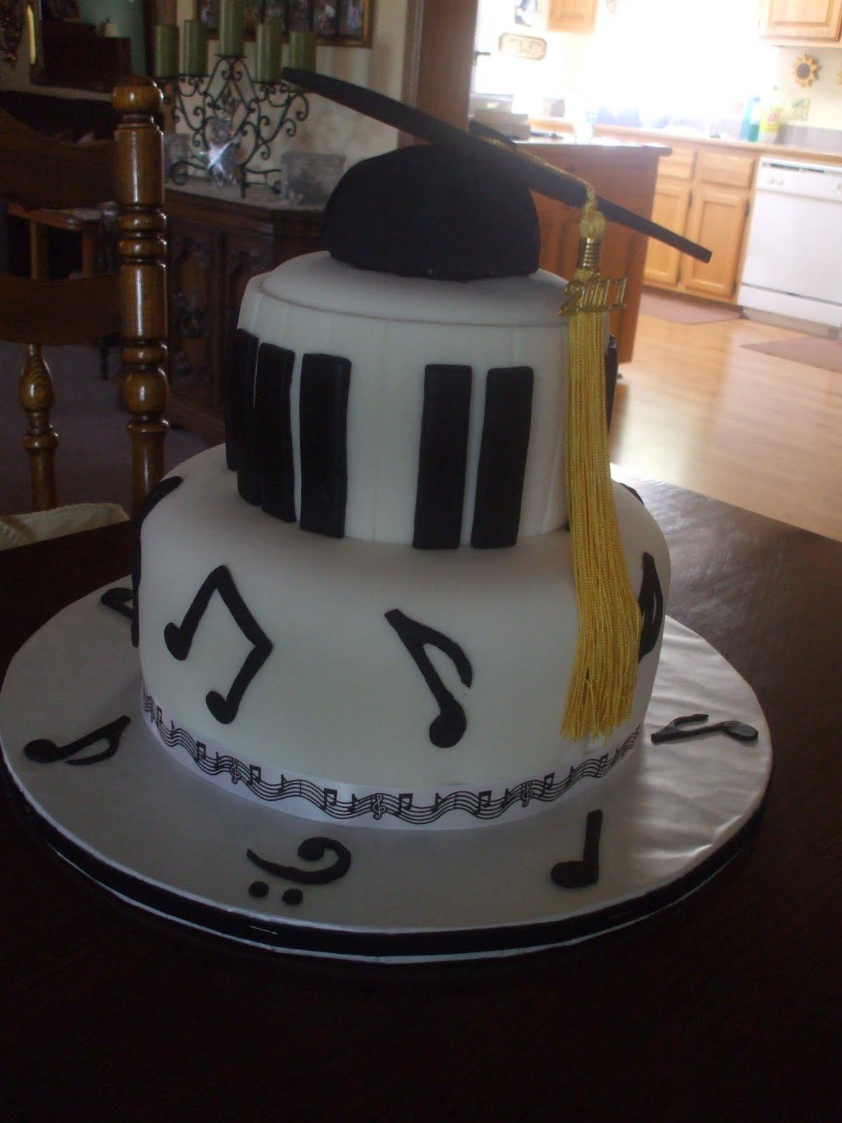 The Simple Cake: Music Graduation Cake