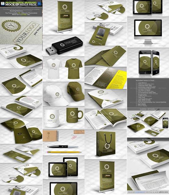 بلال ارت مصدرابداعك-تحميل موك اب هوية تجارية بصرية متعدد لاستخدام  Photorealistic Branding Mock-up  PSD
