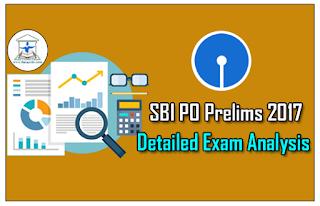 SBI PO Prelims 2017- Detailed Exam Analysis 29th Apr – 1st Slot