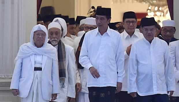 Ma'ruf Amin ke Istana, Jokowi Benarkan Inisial M jadi Cawapres