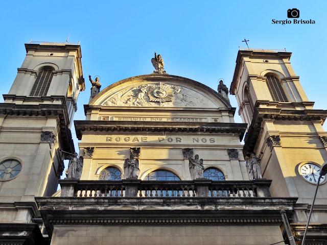Vista dos detalhes da fachada da Paróquia Imaculado Coração de Maria - Vila Buarque - São Paulo