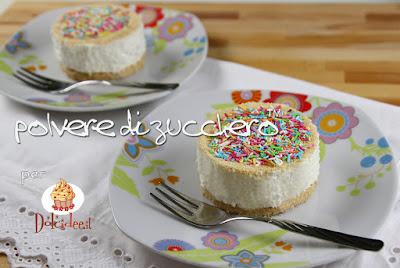 tortine allo yogurt monoporzioni cake art cameo pane angeli dolcidee polvere di zucchero