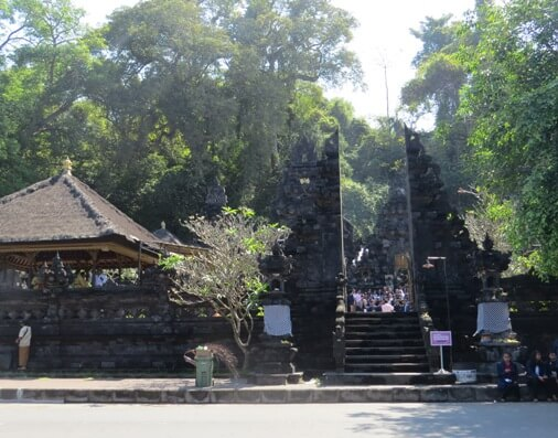 This holy temple is built merely in front end of a cave opening in coastal cliff BeachesinBali: Goa Lawah - Bat Cave Temple Bali