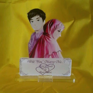 Plakat Akrilik Wedding Hijab