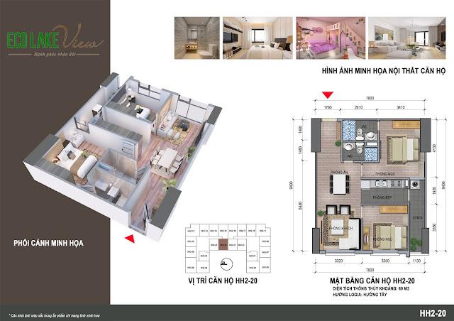 Thiết kế căn hộ 20 tòa HH-02 Eco Lake View