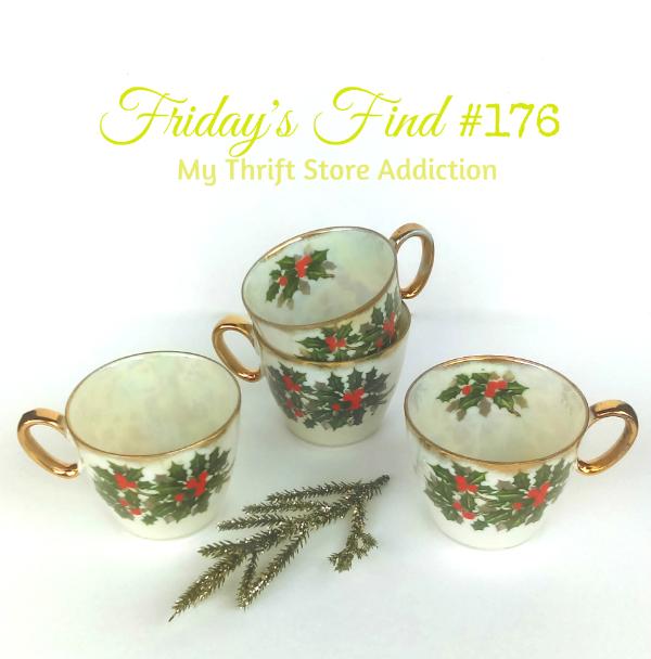 Vintage Christmas teacups