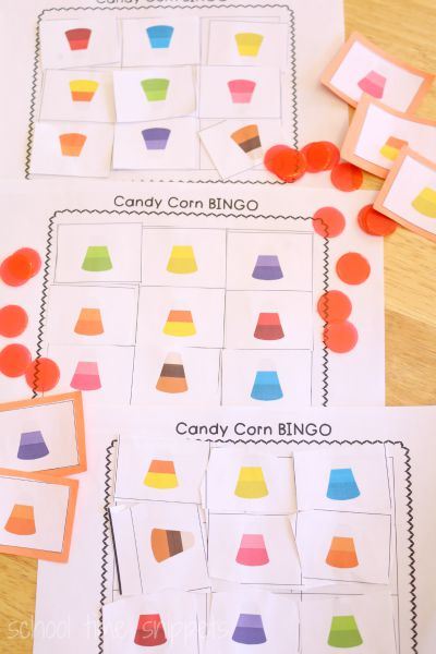 preschool candy corn bingo game