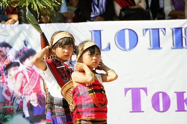 Lotha Tokhu Emong Photos Girls in traditional dress