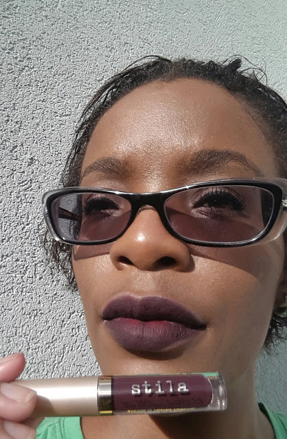 Stila Cosmetics Stay All Day Liquid Lipstick 'Chianti' swatch - www.modenmakeup.com
