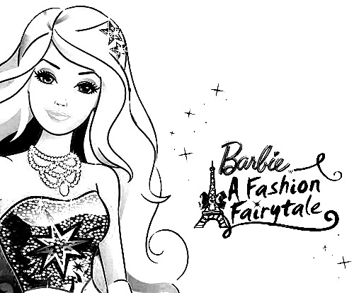 Desenhos da barbie moda e magia para colorir for Fashion barbie coloring pages