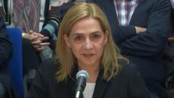La infanta Cristina declara en el juicio por el Caso Nóos