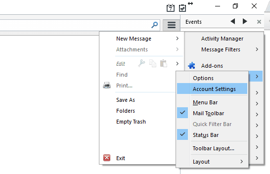 Account Setting Mozilla Thunderbird