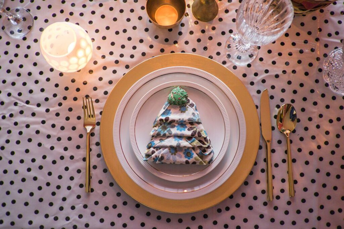 Fold your napkins in the shape of a Christmas tree for extra holiday flair on your table.