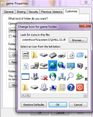 Cara Mengganti Folder Di Windows 7 dengan icon