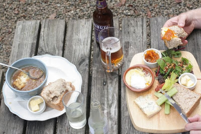 Cornish food at the Woods cafe