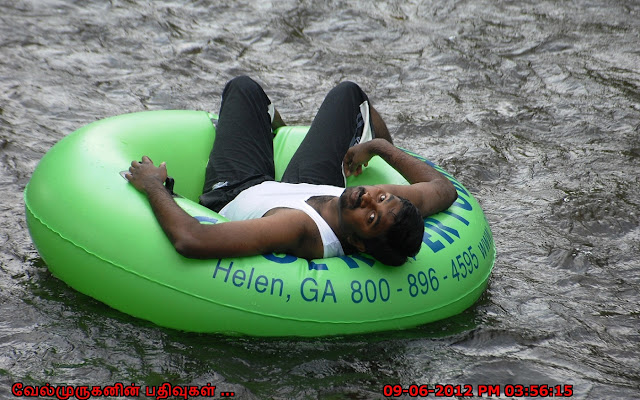 Tubing in Chattahoochee River Helen