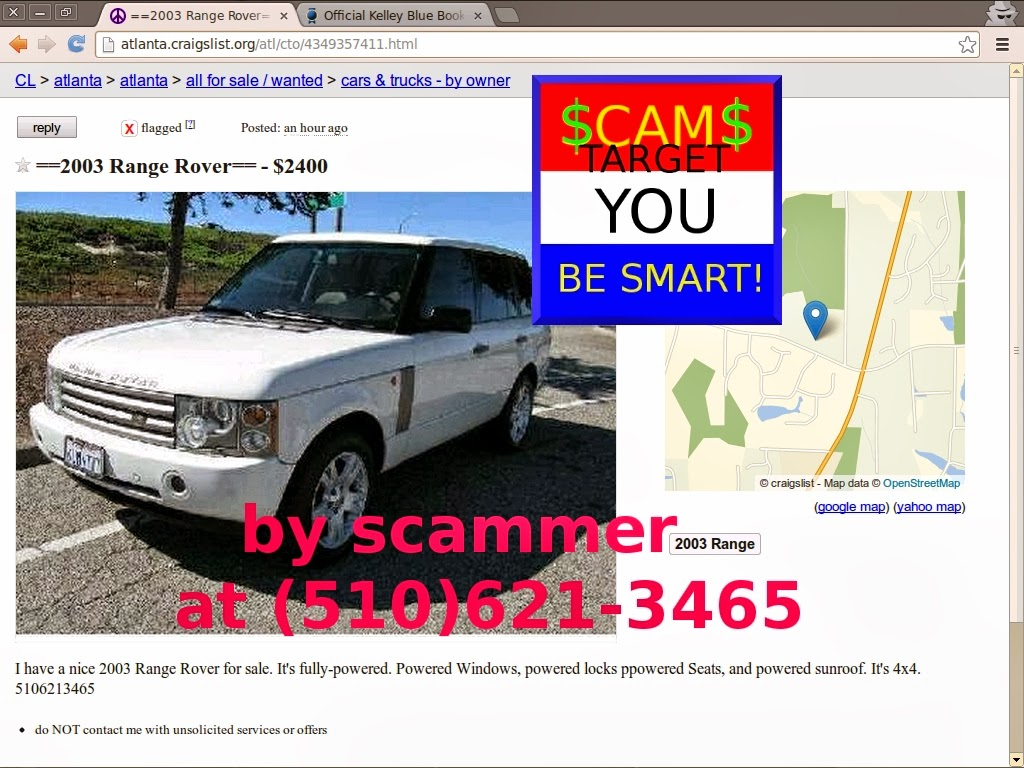 SCAM ADS! Updated for 02/25/2014 - Updated | Vehicle Scams - Google