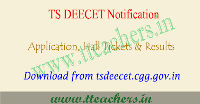 TS DEECET 2020 notification, dietcet online application form Telangana