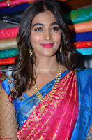 Puja Hegde looks stunning in Red saree at launch of Anutex shopping mall ~ Celebrities Galleries 078.JPG