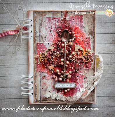 http://photoscrapworld.blogspot.com/2017/02/mediowy-przepisnik-mix-media-cook-book.html