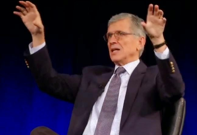 FCC Chairman, Tom Wheeler. (Screen capture from YouTube video)
