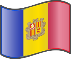 Andorra wavy flag — WikiProject Nuvola, in the public domain