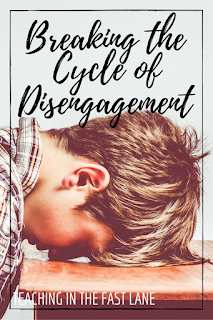 Four ways to break the cycle of disengagement and keep students working. The 2nd one was a life saver for me!