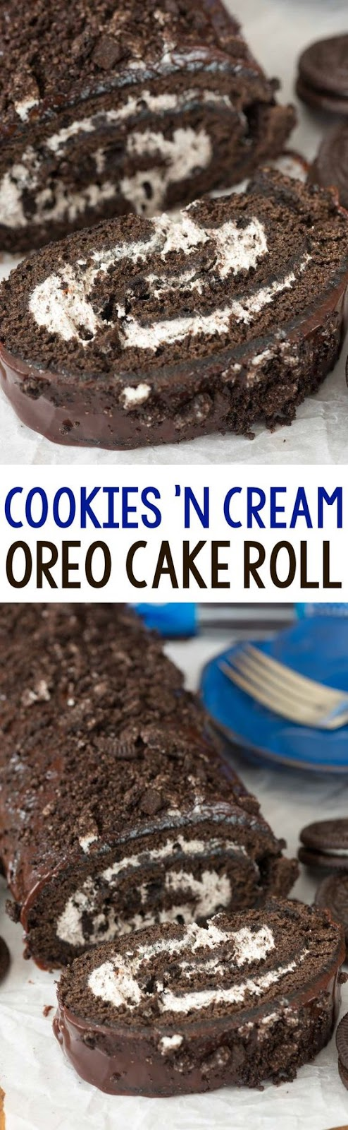 Cookies N Cream Oreo Cake Roll