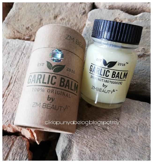 Garlic Balm by ZM BEAUTY, membantu mengurangkan masalah kahak dan selsema adik Zara. Terbaiklah!