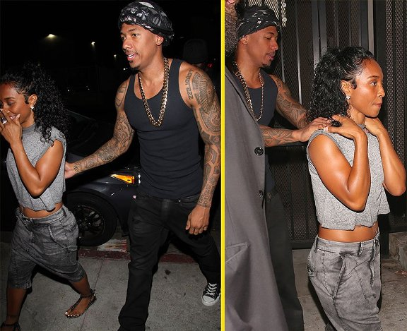 Nick Cannon & girlfriend Chilli step out holding each other