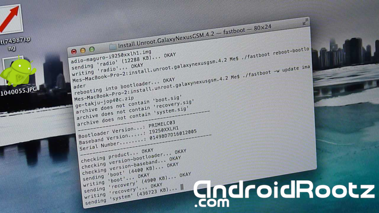 How to Unroot/Install Stock 4 2 Jelly Bean for Galaxy Nexus