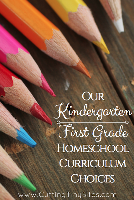 Kindergarten or First Grade Homeschool Curriculum Choices- based on The Well Trained Mind