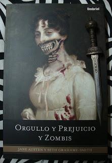 Portada del libro Orgullo y prejuicio y zombis, de Jane Austen y Seth Grahame-Smith