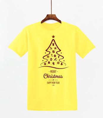 Áo In Chữ Merry Christmas Nghệ Thuật