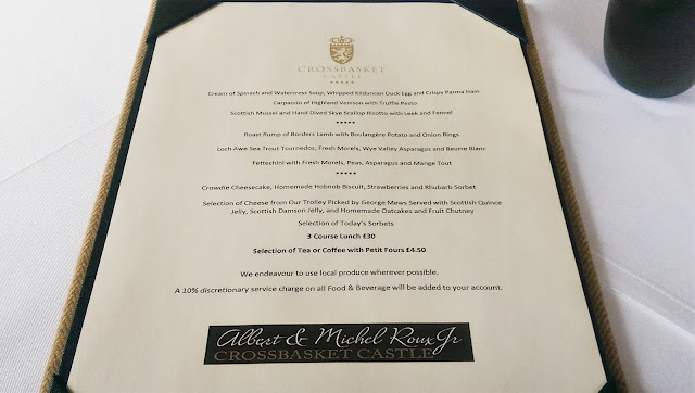 Crossbasket Castle Lunch Menu