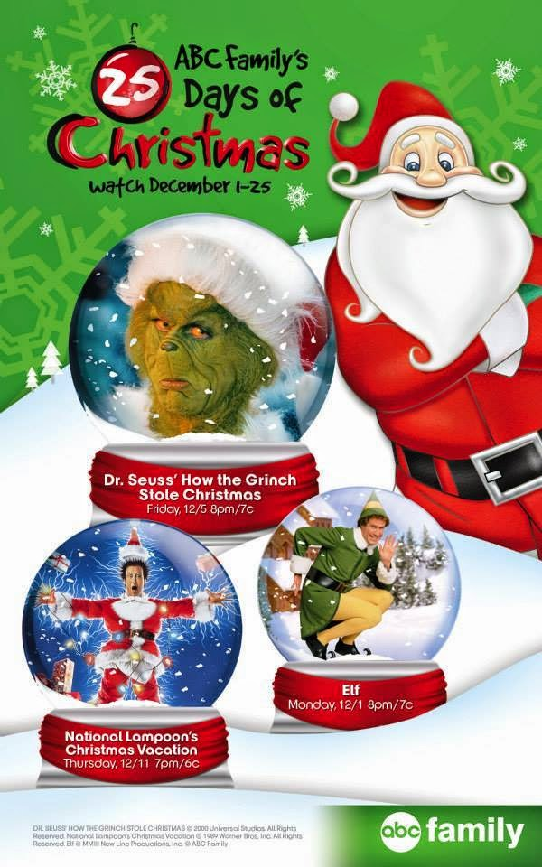 photograph regarding Abc Family 25 Days of Christmas Printable Schedule called Susans Disney Spouse and children: ABC Familys \