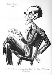 Resultado de imagem para almada negreiros caricatura