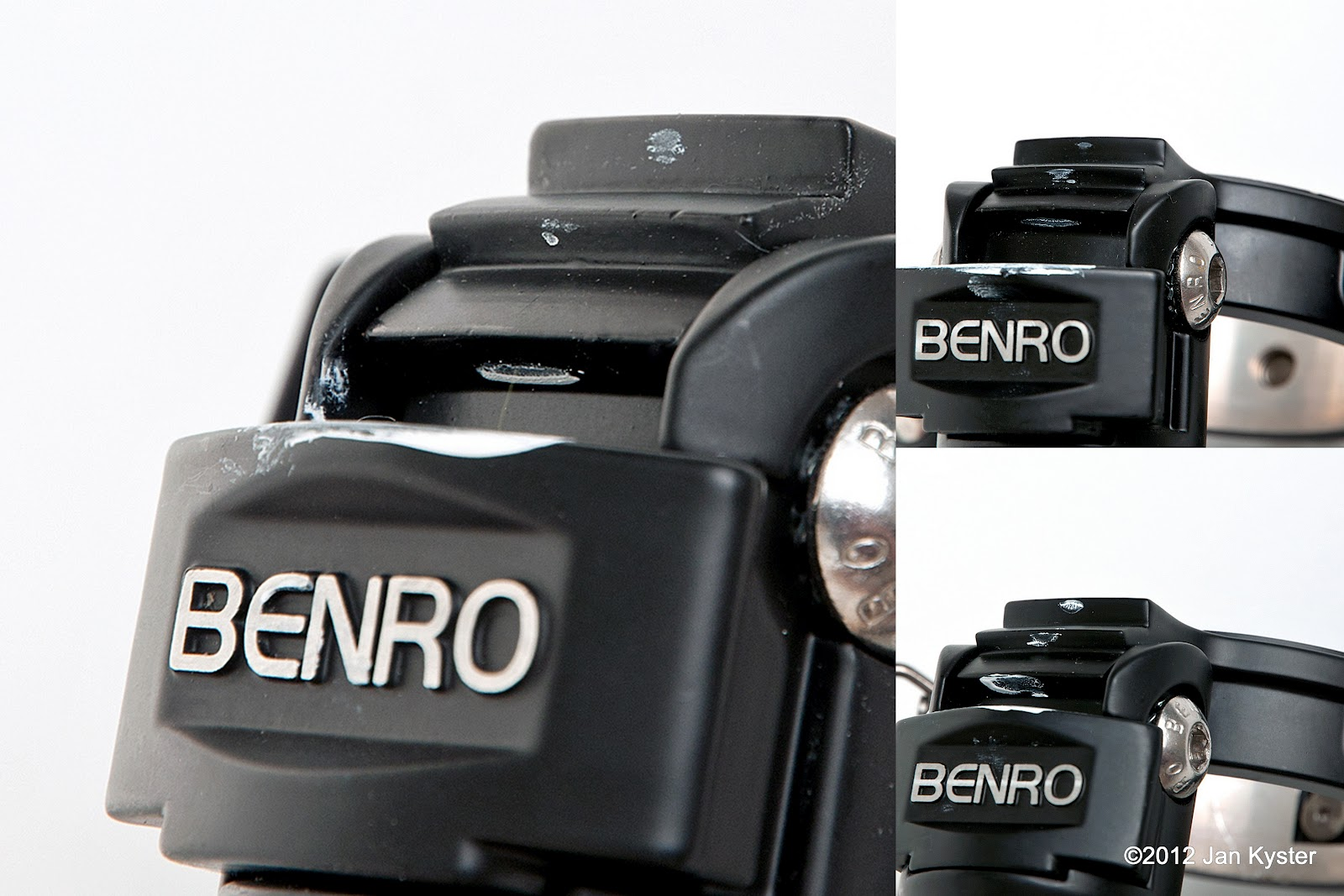 Benro C3770T CF Tripod - all leg angle locks contact detail